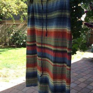 Ralph Lauren skirt petit striped elastic waistband